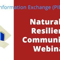 Naturally Resilient Communities Webinar